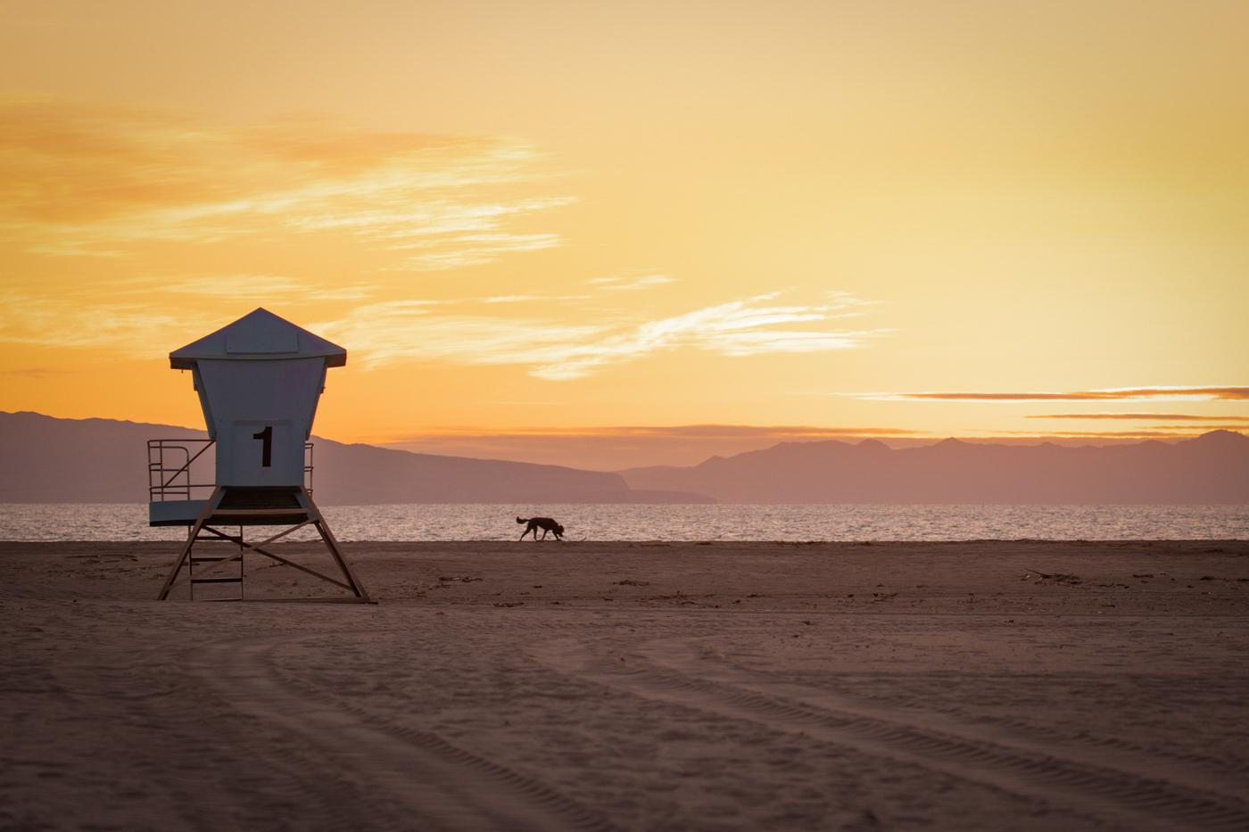 31Terry_Miranda_2_Lifeguard_Tower_at_Sunset